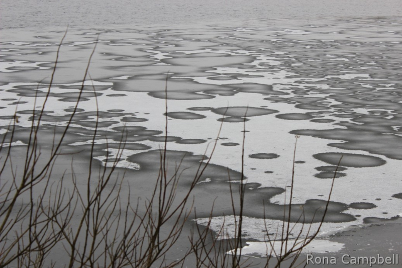 Wind Driven Ice - Fine Art Photography by Rona Campbell