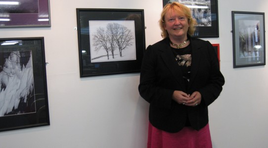 Rona Campbell at her photography exhibition Ice Dance, Oriel Wrecsam 13.9.2012