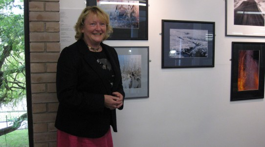 Ice Dance Exhibition, Oriel Wrecsam with photographer Rona Campbell 13.9.2012